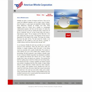 american whistle corporation
