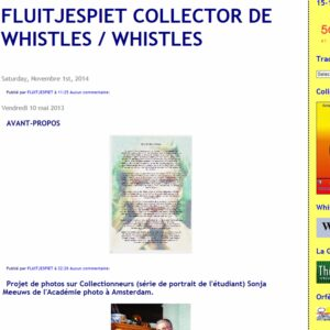 fluitjespiet collector de whistles